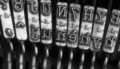 Detail of the old mechanical typewriter — Foto Stock