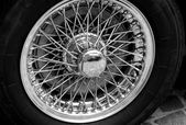 Steel circle of a vintage car — Stock Photo