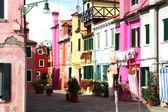 Beautiful colorful houses on the island of BURANO near Venice — Stock Photo