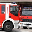 Two fire truck during an emergency — Stock Photo #55507757