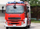 Fire truck during an emergency — ストック写真