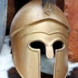 Old Roman helmets of brave roman soldier — Stock Photo #55692629