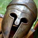 Ancient Roman helmets of brave roman soldier — Stock Photo #55692641