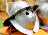 Medieval knights helmet during the period of the middle ages — Stock Photo