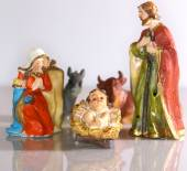Holy Family in the tradition of Christmas — Stock Photo