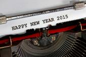 Happy new year 2015 written with black ink — Stock Photo