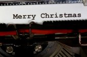MERRY CHRISTMAS written with black ink — Stockfoto