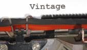 Vintage written with black ink — Stock fotografie