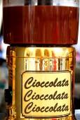 Słoik czekolady na sprzedaż na rynek włoski — Zdjęcie stockowe