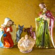 Characters of the crib with baby Jesus in the crib — Stock Photo #56299575