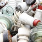 ������, ������: Ceramic insulators in an old dump obsolete material and hazardou