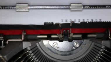 TYPEWRITER with written in the paper — ストックビデオ