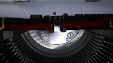 TYPEWRITER with written in the paper — Stock Video