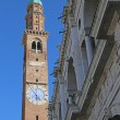 Tower of the Basilica Palladiana in Vicenza with blue sky — Stock Photo #58333217