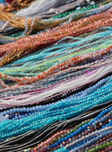 Necklaces and bracelets for sale at flea market — Stockfoto