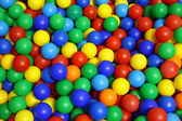 Plastic balls for children to play at recess — Stock Photo