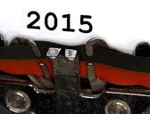 Typewriter Types 2015 Closeup black ink — Zdjęcie stockowe