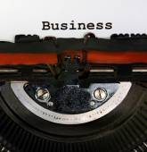 Typewriter Types Business Closeup black ink — Zdjęcie stockowe