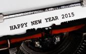 Typewriter Types HAPPY NEW YEAR 2015 Closeup — Stockfoto
