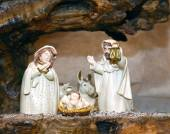 Nativity statues with the Holy Family — Stock Photo
