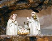 Narození sochy svaté rodiny — Stock fotografie