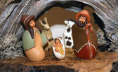 Nativity scene with Holy Family in South American style — Stock Photo