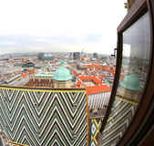 View of the city from the Bell Tower of the Cathedral of St. Ste — Stock Photo