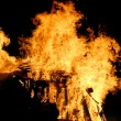 Flames of fire during a scary fire of a dwelling — Stock Photo #61768953