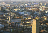 Fantastic panoramic views of the city of Bologna — Stock Photo