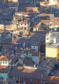 Fantastic panoramic views of the city of Bologna italy — Stock Photo