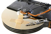 Broken hard drive with a band-aid — Stock Photo
