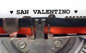 Written typewriter Saint Valentine in black ink — Stock Photo