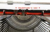 Macchina da scrivere giorno di San Valentino in inchiostro rosso — Foto Stock