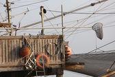 Fishing nets over the Stilt houses — Photo