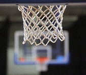 Basketball hoop NET and two baskets in basketball court — Stockfoto