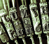Detail of levers of a typewriter — Stock Photo