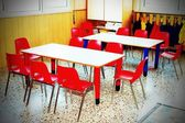 Classroom nursery with chairs and desks — Stock Photo