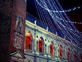 Palladian basilica during a winter night — Stock Photo