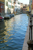Navigable canal in venice in italy — Stock Photo