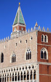Venice Italy Doges Palace and St Mark Bell Tower — Stock Photo