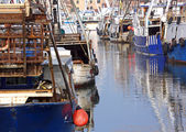 Fishing vessels in the sea moored in Italy — Stock Photo