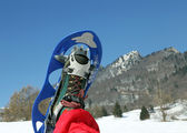 Modern snowshoe in the mountain — Stock Photo