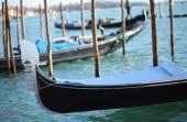 Gondolas near St. Mark's square in Venice — Stock Photo
