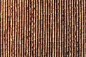 Background of terracotta tiles to a roof of an italian house — Stock Photo