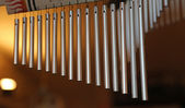 Wind chimes with steel tubes for meditation — Stock Photo
