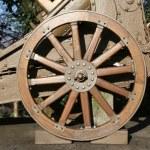 Wooden wheel gun of World War I in the Museum — Stock Photo #67869479
