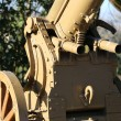 Detail of mortar of World War I with two little guns to shoot — Stock Photo #67869519