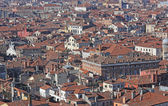 Houses with red-tile roofs and bricks in southern Europe — Stock Photo