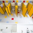 Bathroom nursery school photographed from above — Stock Photo #71509449