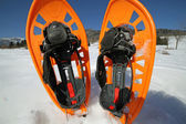 SNOWSHOES for excursions on the snow in the mountains — Stock Photo